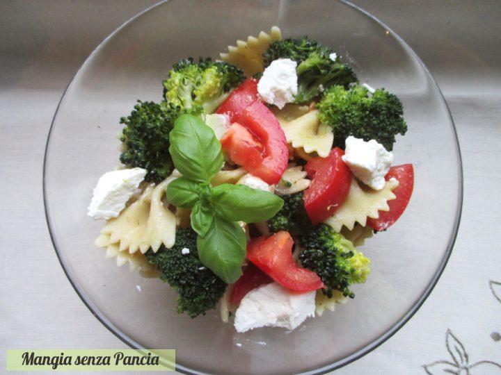 Insalata di pasta con broccoli e caprino, Mangia senza Pancia