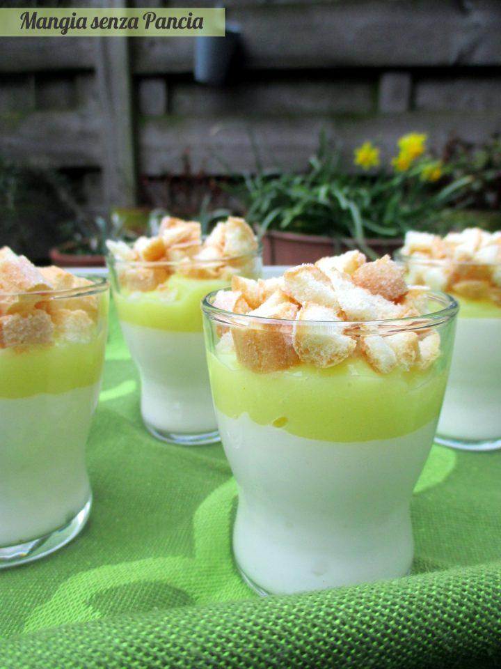 Bicchierini mimosa al limone, Mangia senza Pancia