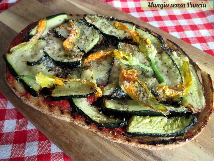 Crostone o bruschettone con verdure grigliate, Mangia senza Pancia