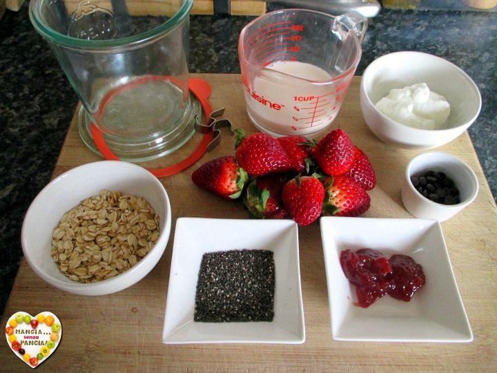 Porridge estivo fragole e cioccolato, Mangia senza Pancia