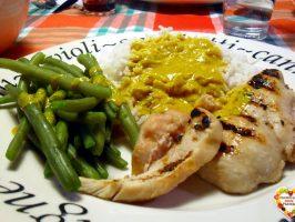 Pollo e riso in salsa speziata