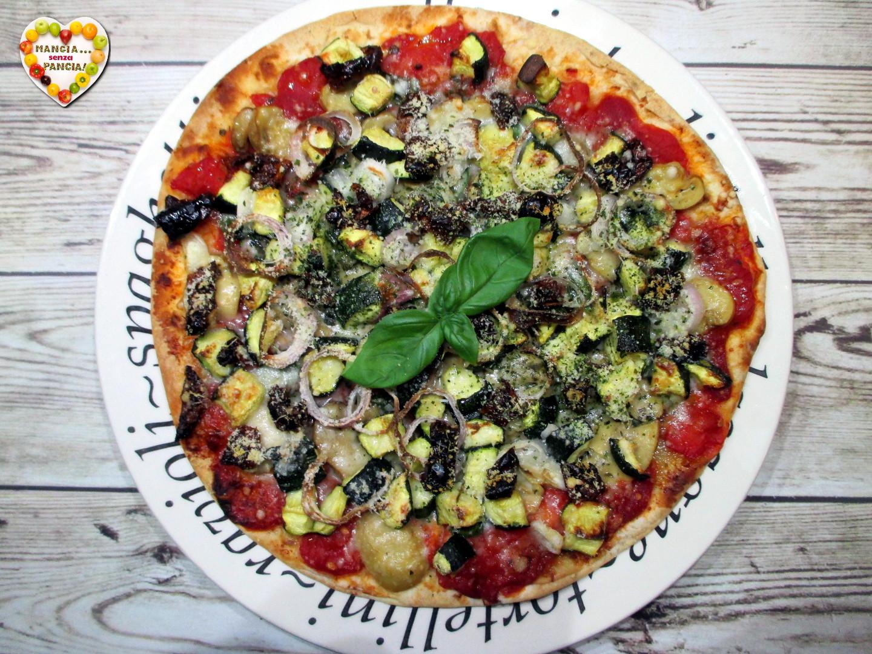 Piadipizza leggera con verdure grigliate, Mangia senza Pancia
