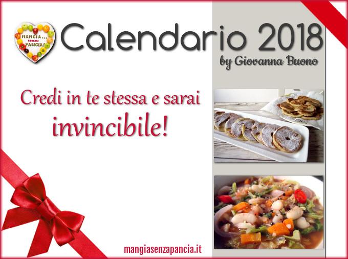 Calendario 2018 di Mangia senza Pancia