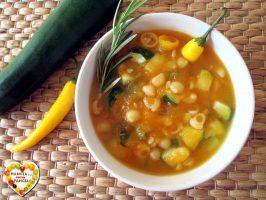 Minestra di zucca e zucchine