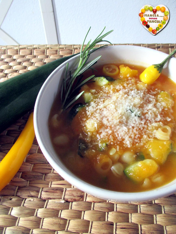 Minestra di zucca e zucchine, Mangia senza Pancia
