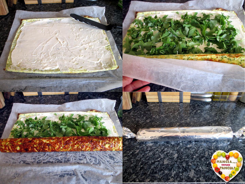 Rotolo di frittata alle zucchine, Mangia senza Pancia