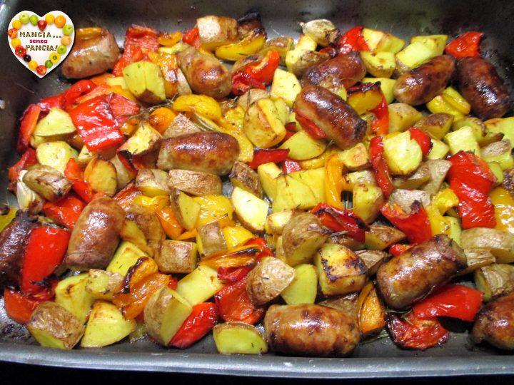 Salsiccia con patate e peperoni