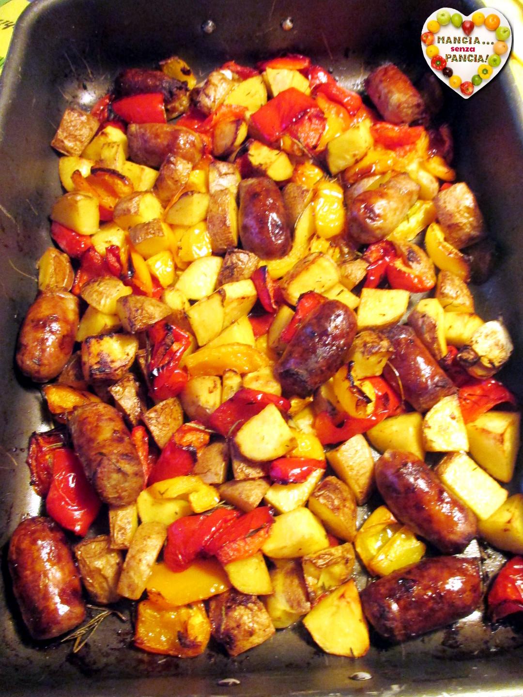Salsiccia con patate e peperoni, Mangia senza Pancia