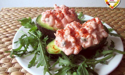 Avocado e gamberetti in salsa rosa