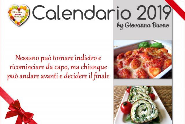 Calendario 2019 di Mangia senza Pancia
