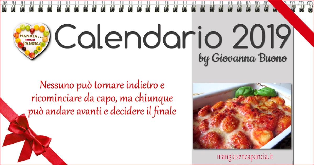 il Calendario 2019 di Mangia senza Pancia da scaricare gratis