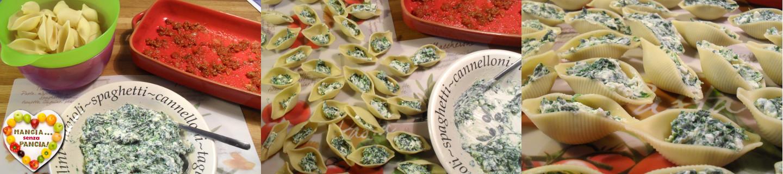 Conchiglioni ripieni light con spinaci e ricotta, Mangia senza Pancia