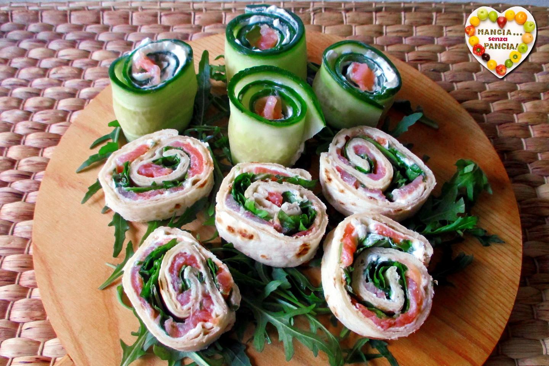 Girelle al salmone in 2 varianti, Mangia senza Pancia
