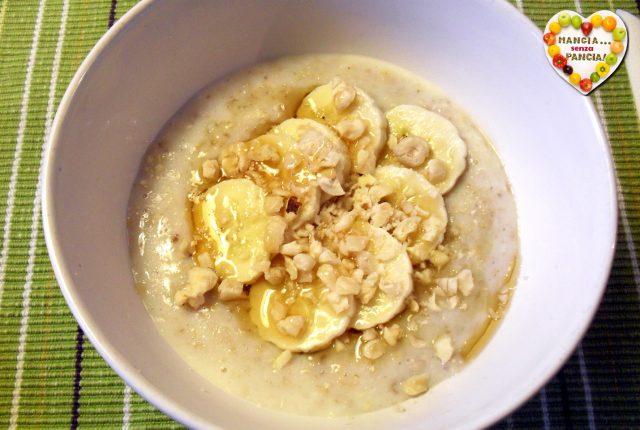 Porridge cremoso leggero, Mangia senza Pancia