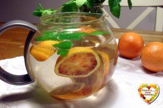 Tisana digestiva menta e arancia