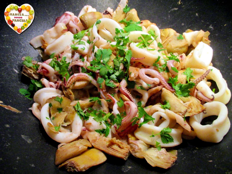 Calamari e carciofi in padella, Mangia senza Pancia