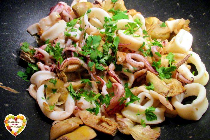 Calamari e Carciofi in Padella