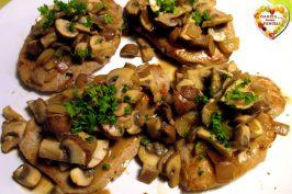 Carne di maiale ai funghi