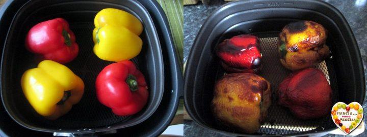 Peperoni arrostiti nella friggitrice ad aria, Mangia senza Pancia