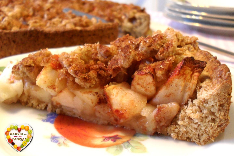Torta di mele con crumble, Mangia senza Pancia