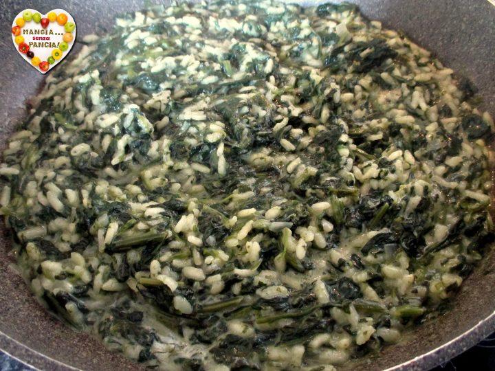 Risotto con spinaci cremoso, Mangia senza Pancia