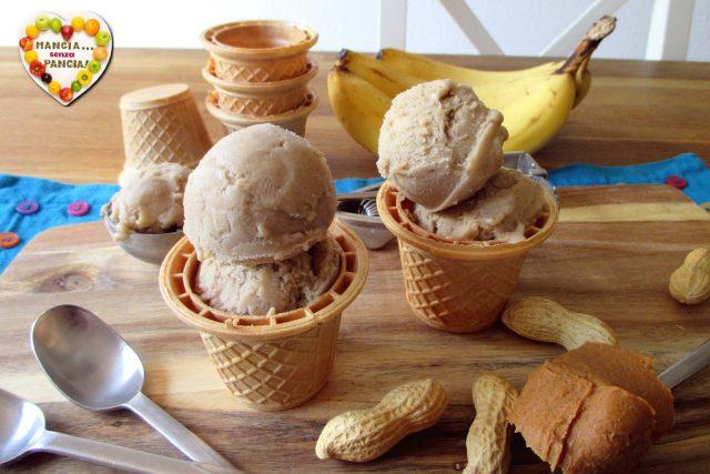 Gelato burro di arachidi e banana congelata, Mangia senza Pancia
