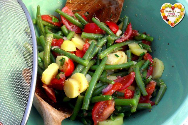 Insalata fagiolini, patate e pomodorini