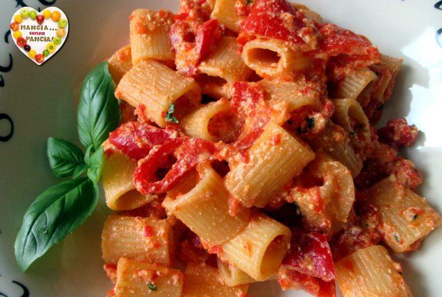 Pasta con crema di peperoni, Mangia senza Pancia