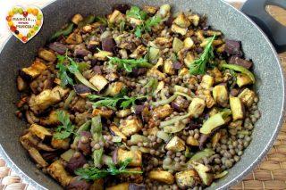 Melanzane e lenticchie speziate
