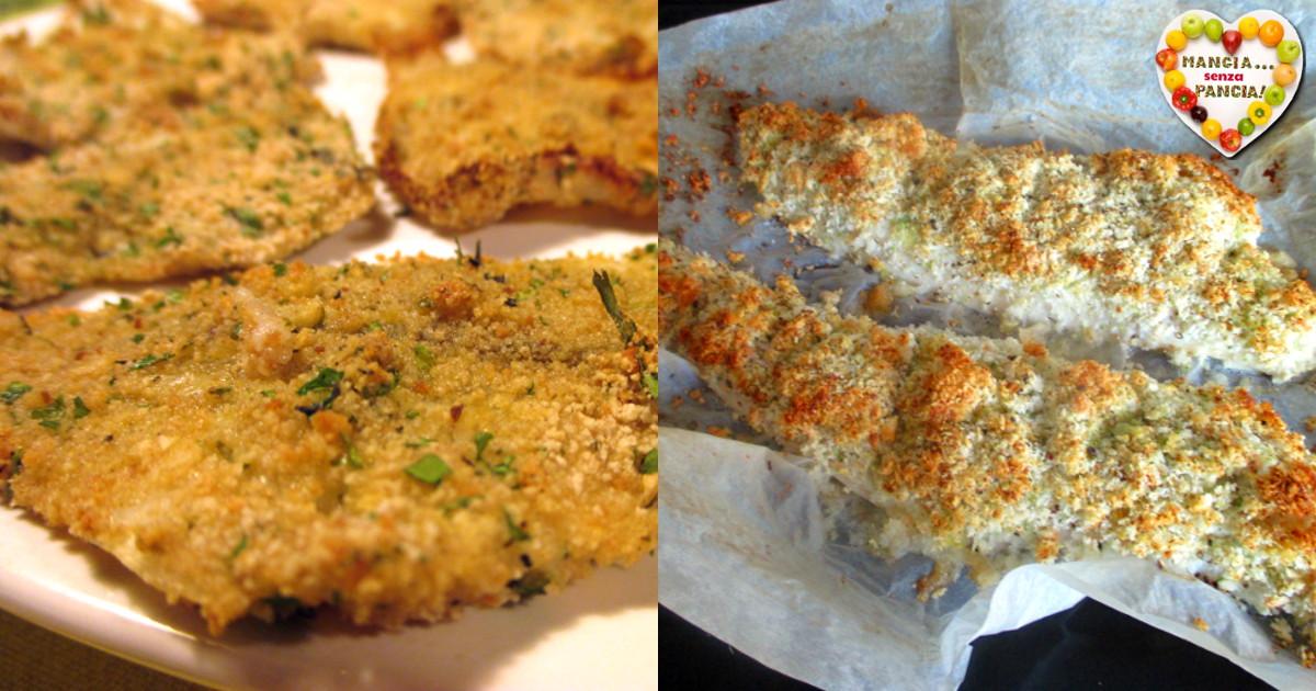 Filetti di pesce gratinati, Mangia senza Pancia