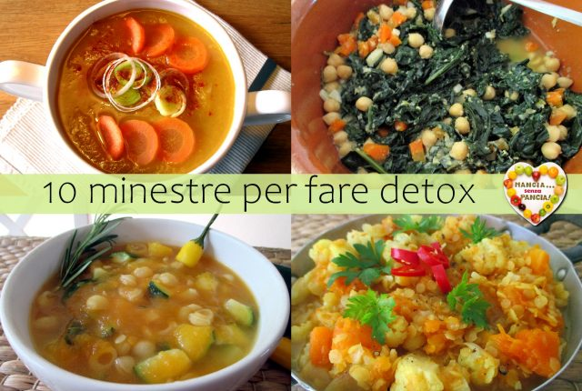 10 minestre per fare detox, Mangia senza Pancia