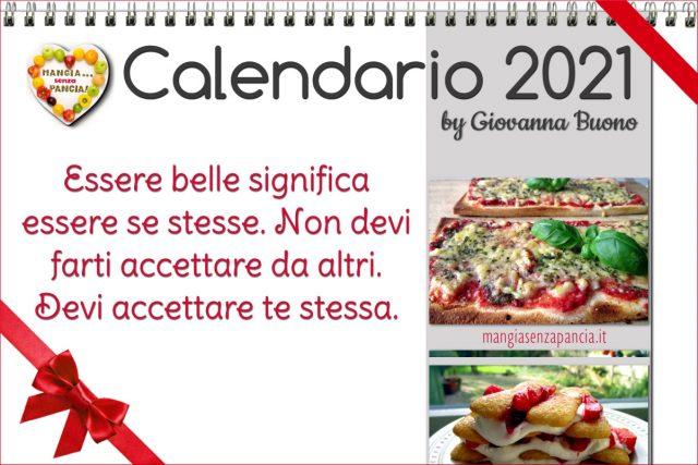 Calendario 2021 di Mangia senza Pancia