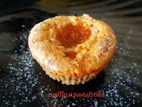 Muffin cuore di marmellata