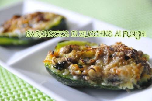 Barchette di zucchine ripiene ricetta con i funghi