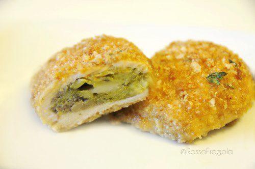 Fagottini di pollo con asparagi funghi e zucchine