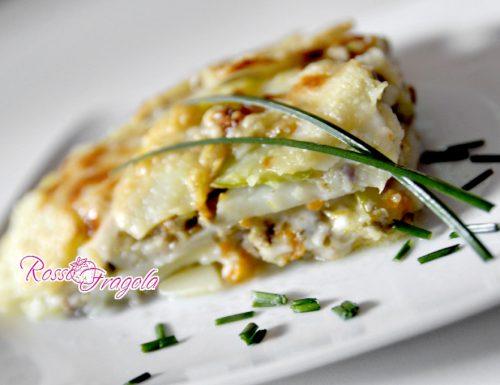 Sformato di patate con zucchine e melanzane