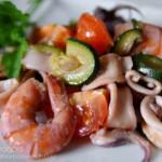 Zuppa di calamari e gamberi -...