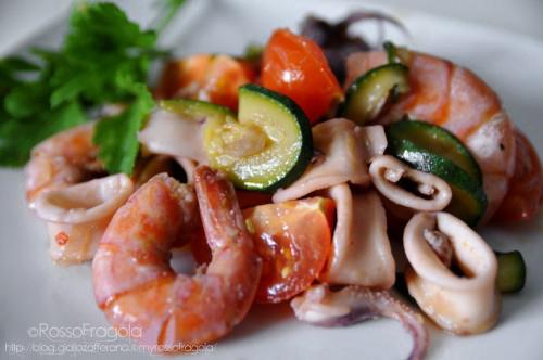 Zuppa di Calamari e Gamberi