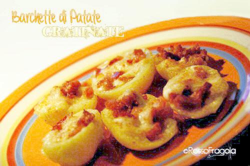 Barchette di patate gratinate al forno