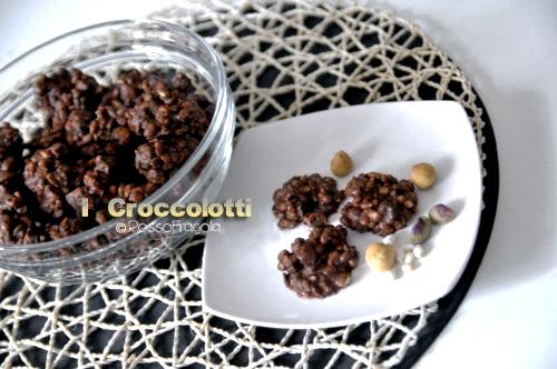 biscotti con riso soffiato e cioccolato