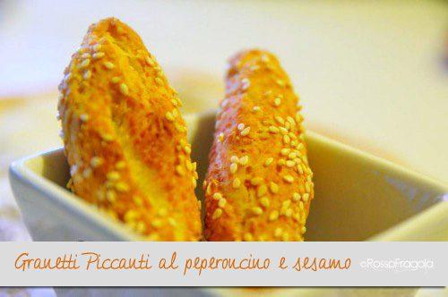 Granetti ricetta piccante al peperoncino e sesamo