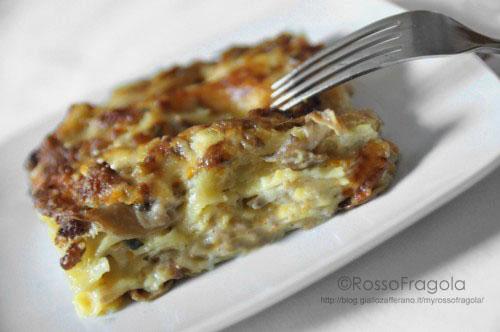 Lasagne al forno - ricetta con funghi e salsiccia
