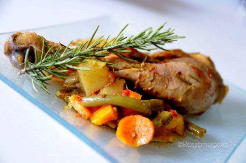 Pollo aromatico all'ortolana – ricetta gustosa