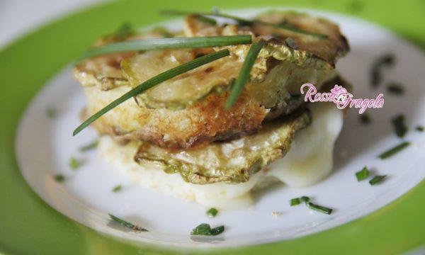 Torrette sfiziose con zucchine e formaggio