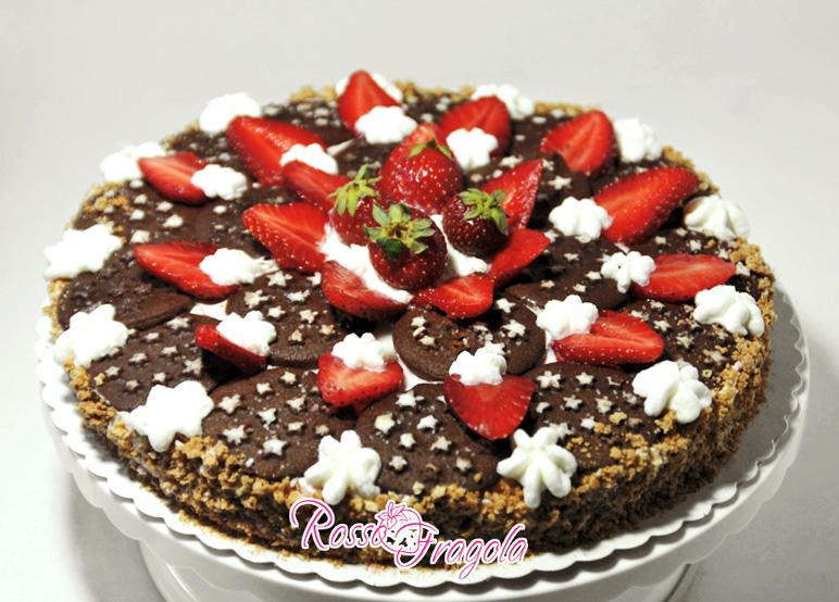 torta pan di stelle e fragole