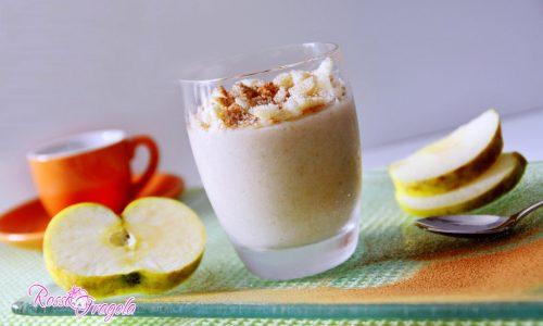 Crema alle mele con yogurt e cannella senza uova