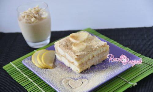 Mattonella di savoiardi con crema alle mele