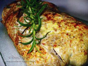 Rotolo di pollo ripieno al forno