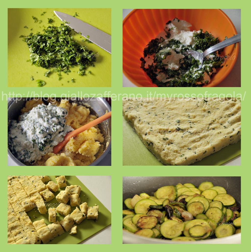 cubetti di polenta e zucchine