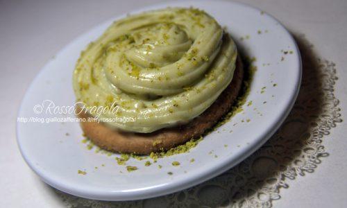 Mini tortine con crema al pistacchio
